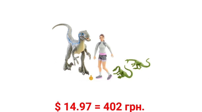 Jurassic World Human & Dino Pack Yasmina Yaz & Velociraptor & 3 Compys 4 Year Olds & Up