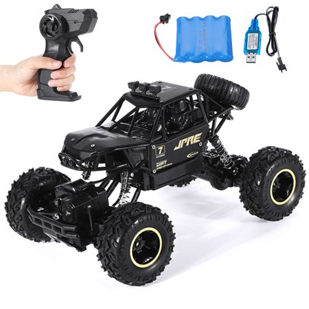 Remote Control 4WD RC Car, 1:16 Alloy Off Road Monster Vehicle Hobby Truck Electric Kids Toy for Boys Girls Birthday Christmas Gift