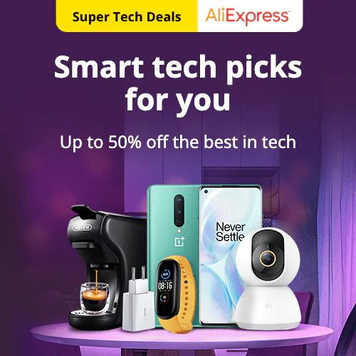 Super Tech Deals  Up to 50% off the best in tech  Promotion Period: 12-08-2020 - 19-08-2020