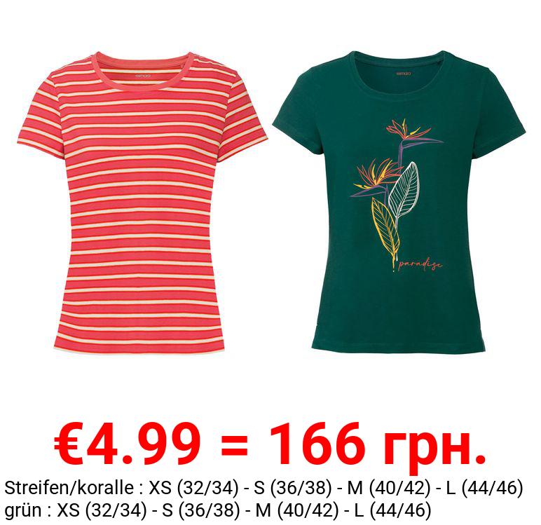 ESMARA® T-Shirt Damen, aus Stretchjersey