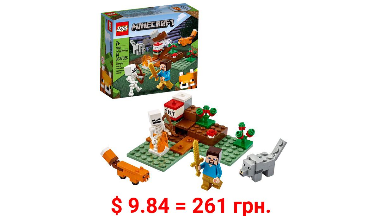 LEGO Minecraft The Taiga Adventure 21162 Brick Building Toy (74 Pieces)