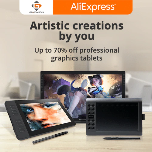 Featured brands-GAOMON Up to 70% off professional graphics tablets