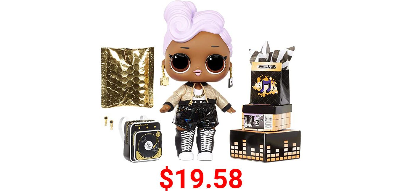 """LOL Surprise Big B.B. (Big Baby) D.J. – 11"""" Large Doll, Unbox Fashions, Shoes, Accessories, Includes Playset Desk, Chair and Backdrop"""