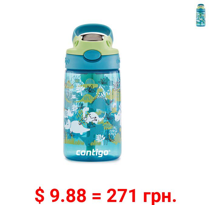 Contigo Kids Water Bottle with Redesigned AUTOSPOUT Straw, 14 oz., Dinos