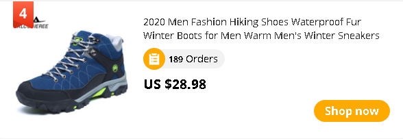 2020 Men Fashion Hiking Shoes Waterproof Fur Winter Boots for Men Warm Men's Winter Sneakers Outdoor Trekking Sport Climbing