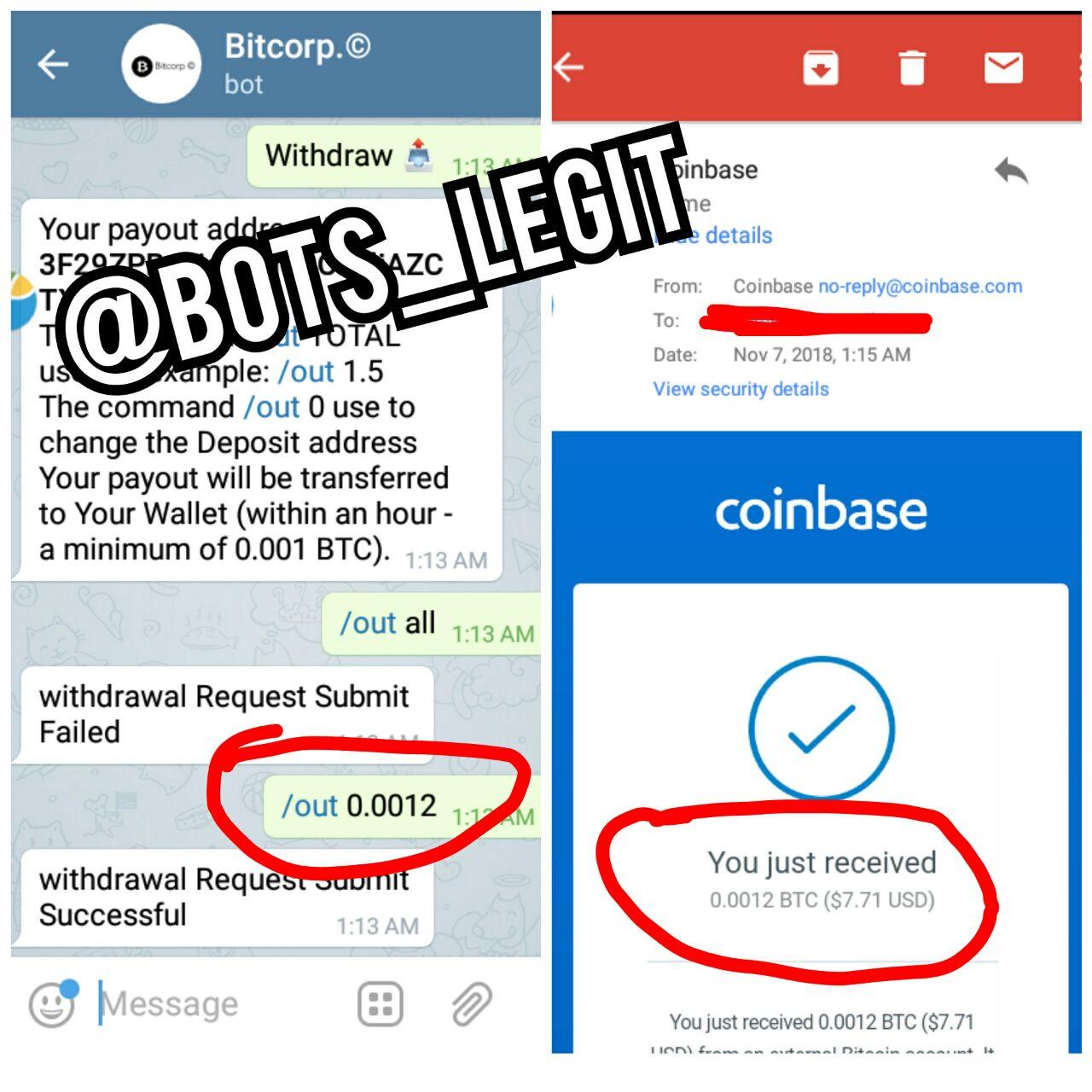 bitcoin reklám bot távirata legit