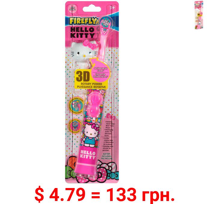 Firefly hello kitty rotary power soft toothbrush