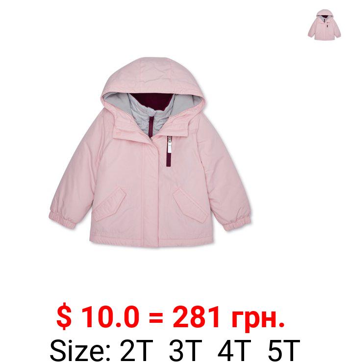 Wonder Nation Toddler Girls 4-in-1 Systems Jacket Coat