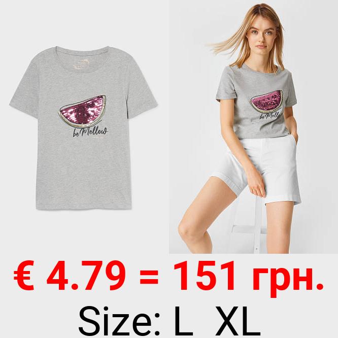 T-Shirt - Bio-Baumwolle - Glanz-Effekt