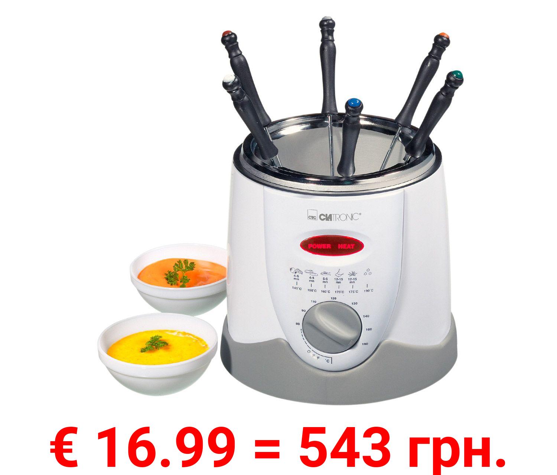 CLATRONIC Fondue-Fritteuse »FFR 2916«, 2 in 1, 900 Watt, 1 Liter Fassungsvermögen