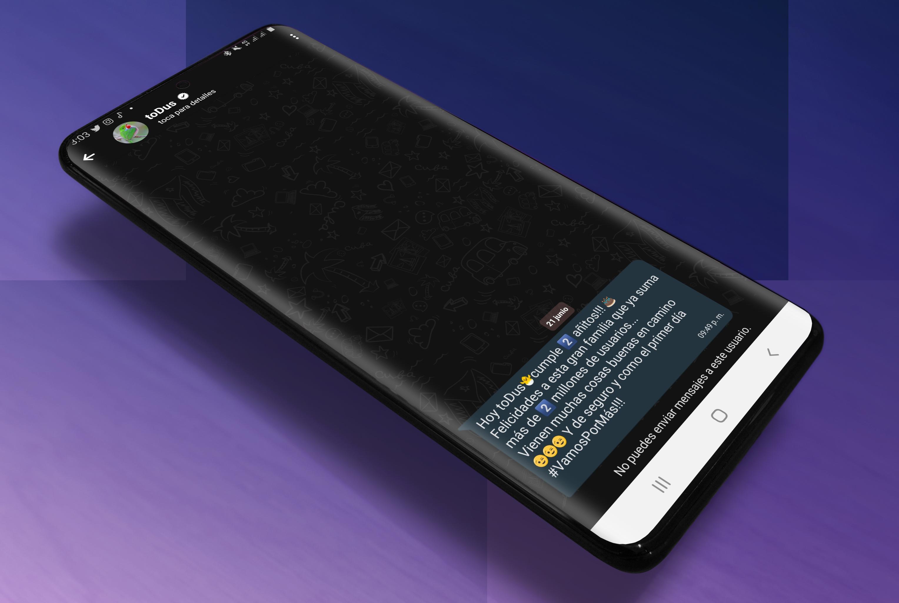 ToDus Modo oscuro Canal oficial de la Aplicación