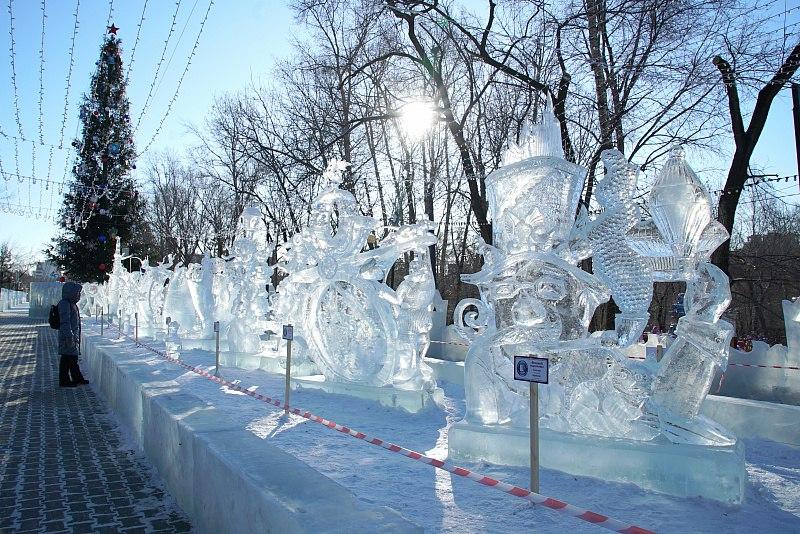 В Хабаровске завершился конкурс ледовой скульптуры