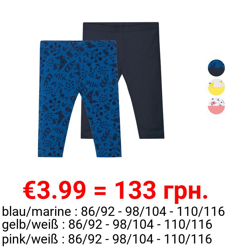 LUPILU® Kleinkinder Capri-Leggings Mädchen, 2 Stück