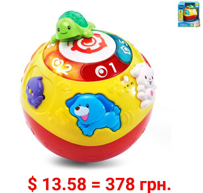 VTech Wiggle and Crawl Ball With Animal Friends Encourages Motor Skills