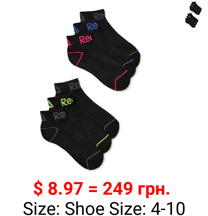Reebok Women's Cushion Quarter Socks, 6-Pack