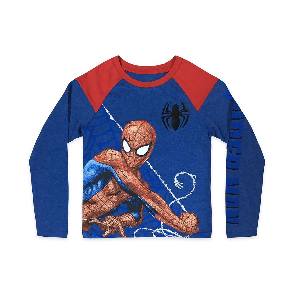 Spider-Man Long Sleeve Raglan T-Shirt for Kids