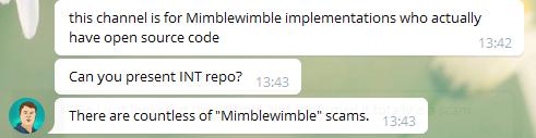 正在制作MimbleWimble项目吗?准备好他们称您为骗子。