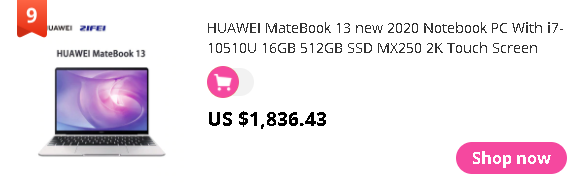 HUAWEI MateBook 13 new 2020 Notebook PC With i7-10510U 16GB 512GB SSD MX250 2K Touch Screen Backlit Laptop