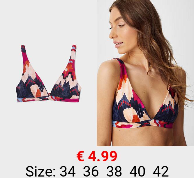 Bikini-Top - wattiert - recycelt