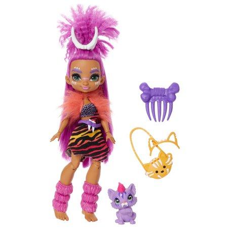 Cave Club Roaralai Doll (8 - 10-Inch) Prehistoric Fashion Doll with Dinosaur Pet