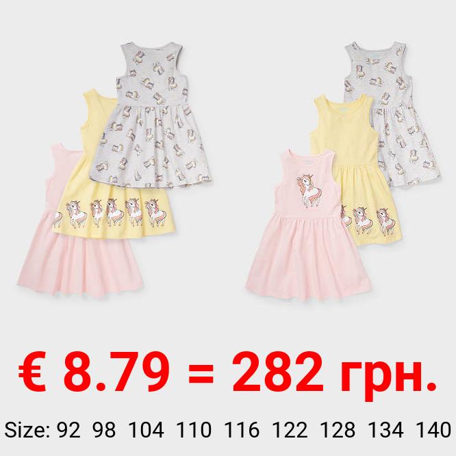 Multipack 3er - Einhorn - Kleid - Bio-Baumwolle