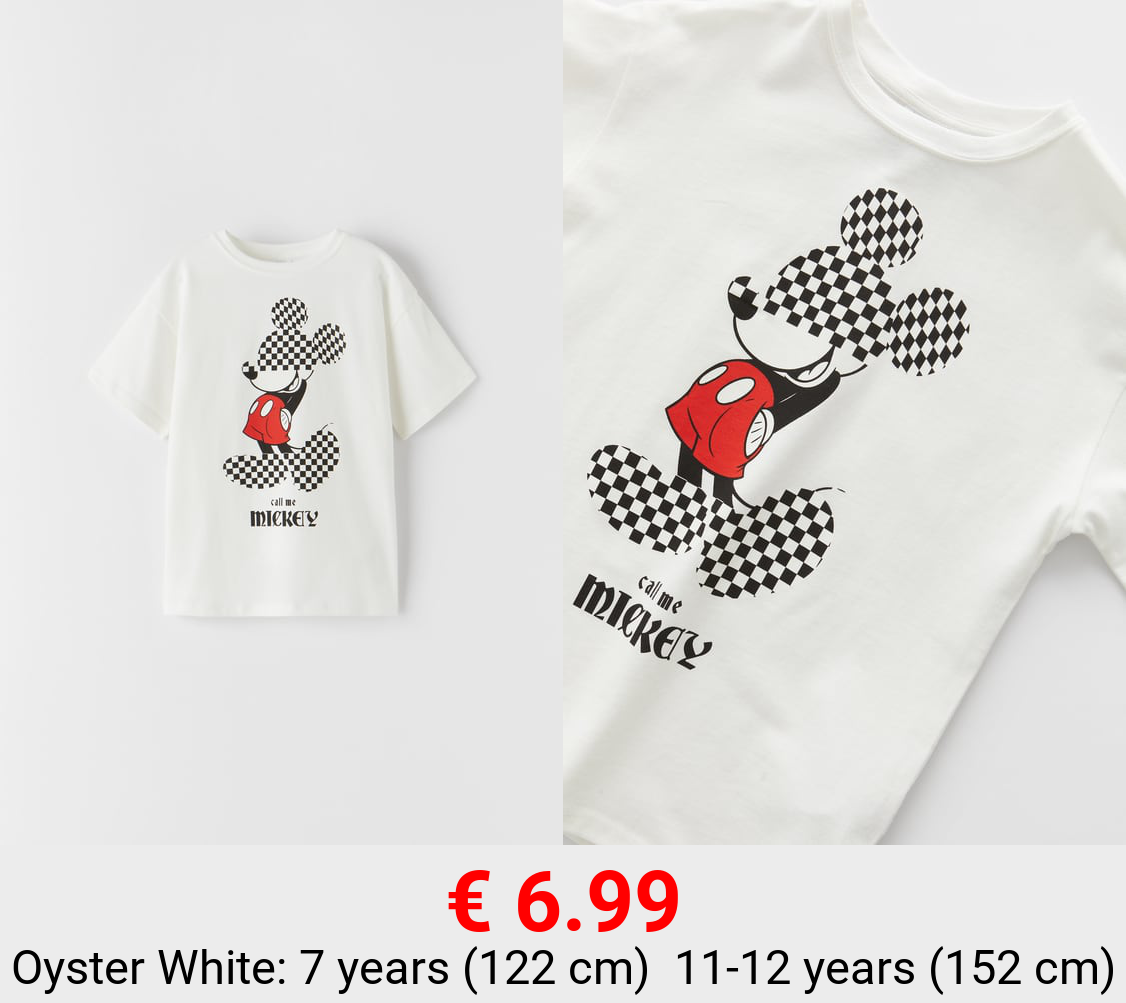 CHEQUERED MICKEY MOUSE © DISNEY T-SHIRT