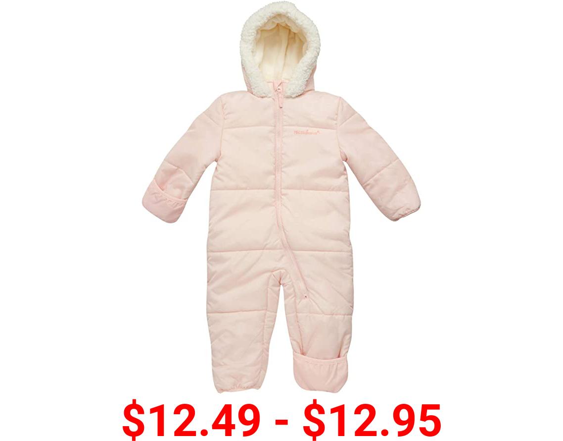 Pink Platinum Baby Girls' One-Piece Puffer Winter Snowsuit with Hood (Newborn & Infant)