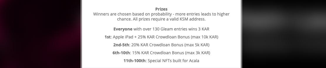 Bounty программа от Karura — 3 токена KAR ≈-100