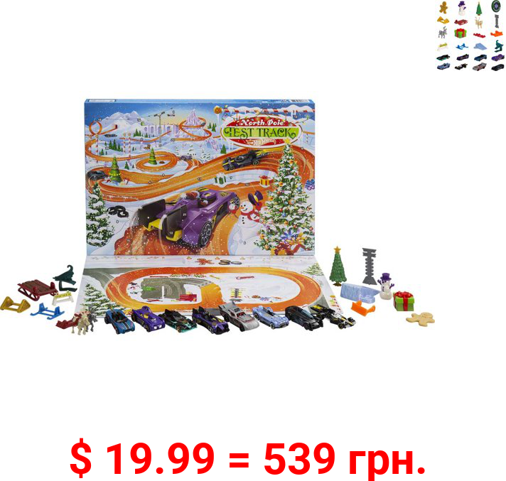 Hot Wheels 2021 Advent Calendar for Collectors & Kids 3 Years & Older
