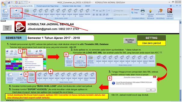 Print / Convert aSc TimeTables to Excel – Jadwal Sekolah