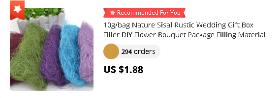 10g/bag Nature Sisal Rustic Wedding Gift Box Filler DIY Flower Bouquet Package Filling Material Wedding Party Decor Supplies