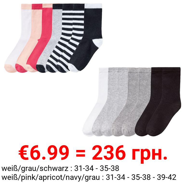PEPPERTS® Kinder Socken Mädchen, 7 Paar