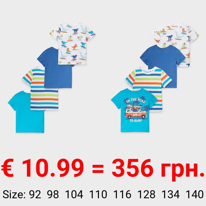 Multipack 4er - Kurzarmshirt - Bio-Baumwolle