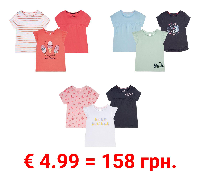 LUPILU® 3 Kleinkinder Mädchen T-Shirts