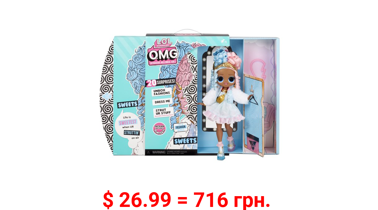 LOL Surprise OMG Sweets Fashion Doll - Dress Up Doll Set with 20 Surprises for Girls and Kids 4+