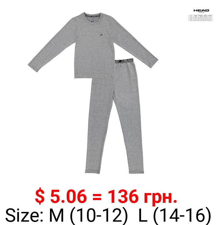 HEAD, Boys Thermal Underwear, 2 Piece Base Layer Set Sizes 6 - 18