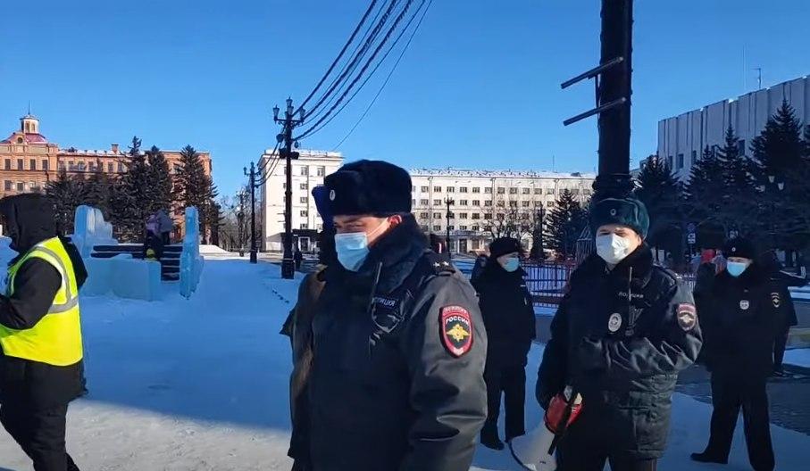 ВХабаровске полиция вовремя акции вподдержку Фургала задержала 17 человек