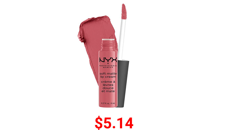 NYX PROFESSIONAL MAKEUP Soft Matte Lip Cream, Lightweight Liquid Lipstick - Cannes (Matte Muted Mauve)