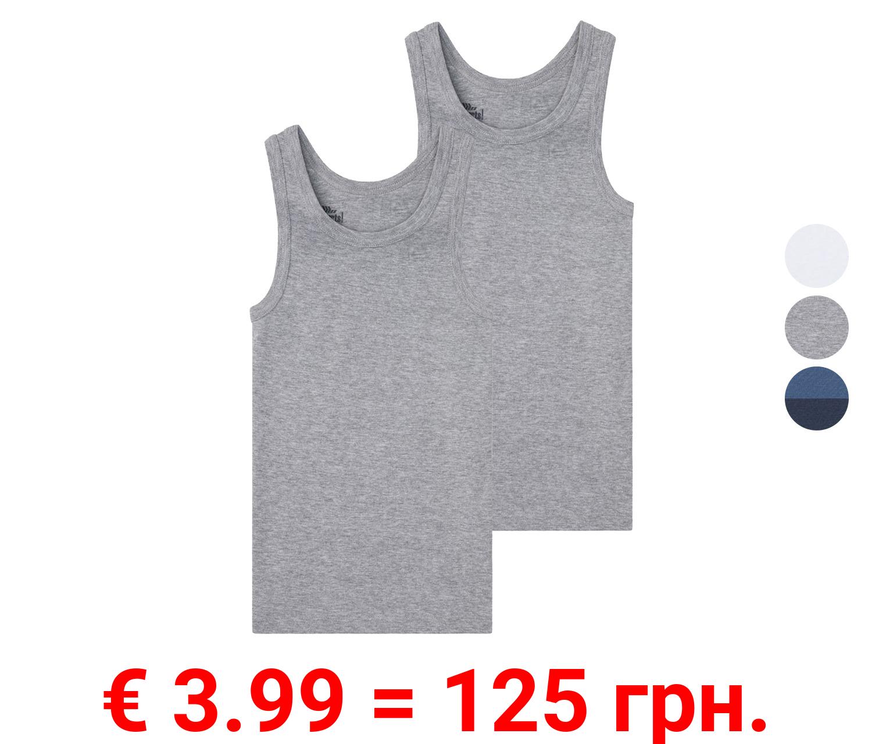 PEPPERTS® Unterhemd Jungen, 2er Set, mit Baumwolle