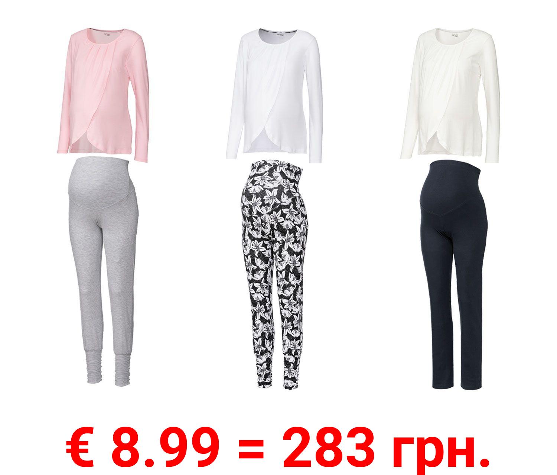 ESMARA® Lingerie Damen Umstands-Pyjama