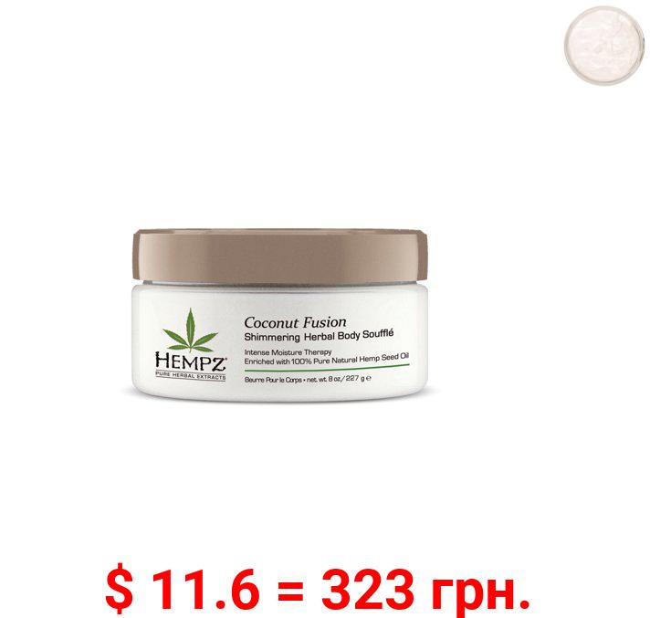 Hempz Coconut Fusion Herbal Shimmering Body Soufflé - 8oz