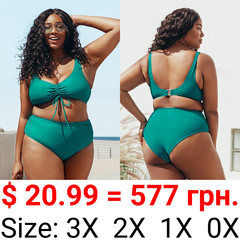 Teal Plus Size Bikini
