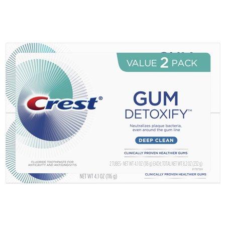 Crest Gum Detoxify Deep Clean Toothpaste, 4.1 oz 2 Pack