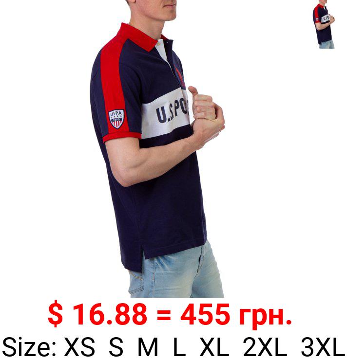U.S. Polo Assn. Men's Color Block Pique Polo Shirt