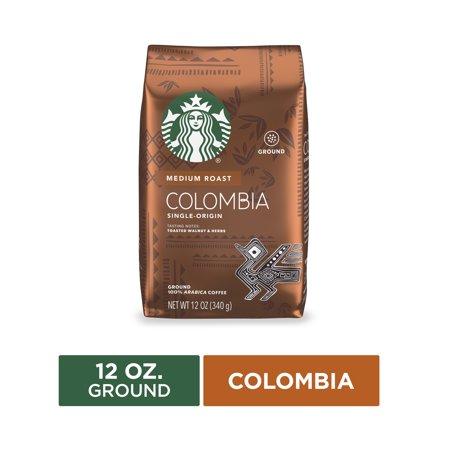 Starbucks Medium Roast Ground Coffee — Colombia — 100% Arabica — 1 bag (12 oz.)