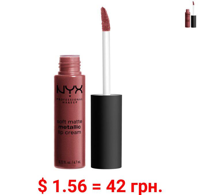 NYX Professional Makeup Soft Matte Metallic Lip Cream, Rome