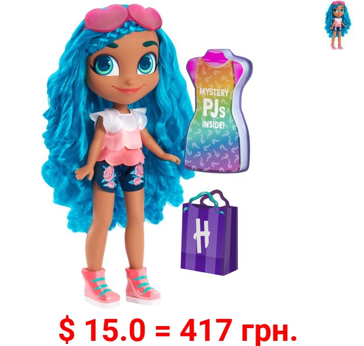 Hairdorables 18-Inch Mystery Fashion Noah Doll, Includes Surprise Outfit, Blue Hair, By Just Play