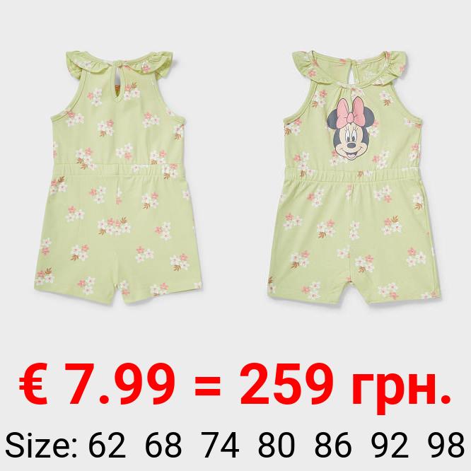 Minnie Maus - Baby-Jumpsuit - Bio-Baumwolle - geblümt