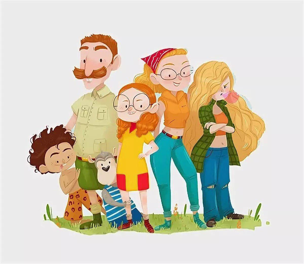 медвежье ухо смешные открытки большая семья на юге они
