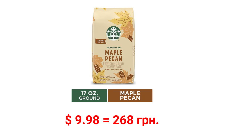 Starbucks Flavored Ground Coffee, Maple Pecan Light Roast Coffee, 17 Oz